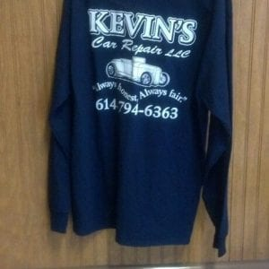 Long Sleeve T - Shirt - Navy with white lettering