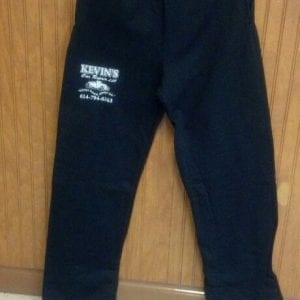 Sweatpants - Black with white lettering