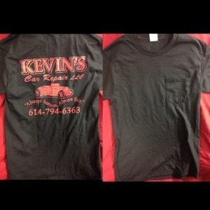 T - Shirt - Black with red lettering