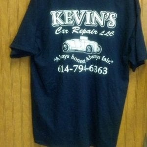 T - Shirt - Navy with white lettering